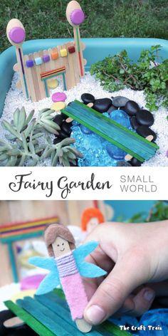 Create a fairy garden small world for imaginative play