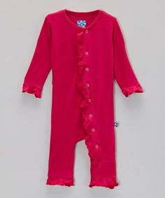 Berry Ruffle Playsuit - Infant, Toddler & Girls by KicKee Pants