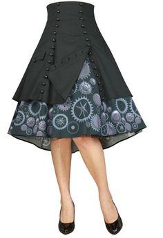 Steam Punk Gear Skirt by Amber Middaugh