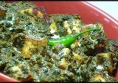 Palak Paneer – Spinach with Homemade Cheese