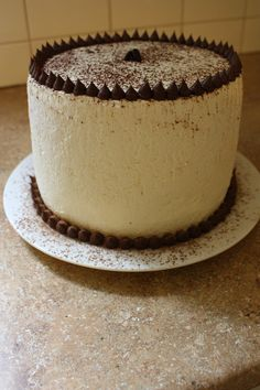 "four layer 7"" cappuccino chiffon cake - adapted from smittenkitchen.com"