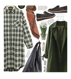 """""""Casual Shirt Dress (plus size)"""" by beebeely-look ❤ liked on Polyvore featuring 10 Crosby Derek Lam, The Row, Real Purity, BULB, Burberry, casual, shirtdress, plussize, plussizefashion and twinkledeals"""