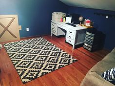 """Kara  on Instagram: Chris' """"man cave"""" more like office is coming together  just waiting for..."""