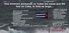 DIVULGAN LISTA DE COSAS QUE NO HAY EN #CUBA