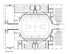Imagem 17 de 17 da galeria de Clássicos da Arquitetura: Ginásio do Clube Atlético Paulistano / Paulo Mendes da Rocha e João De Gennaro. Planta baixa