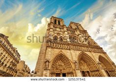 Paris. Beautiful View Of Notre Dame Cathedral. Stock Photo 125137541 : Shutterstock