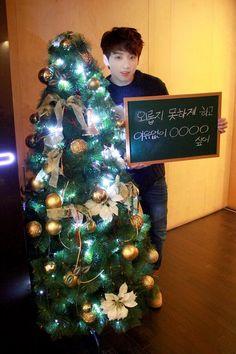 Jungkook with christmas tree