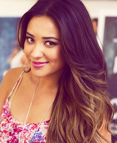 Shay Mitchell from PLL dark ombre hair Check out Dieting Digest
