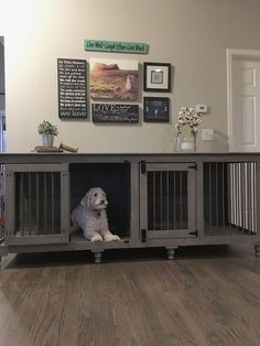 40 Comfy Large Dog Crate Ideas 37