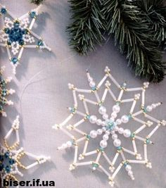 Beaded Snowflake PATTERN easy to follow diagram