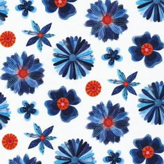 127800 Blooms from Moody Blues by Geninne for Cloud9 Fabrics