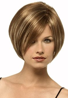 Angled bob..love the cut and color