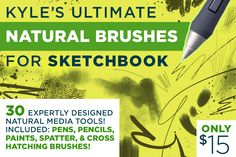 Kyle's Natural Brushes 4 Sketchbook by Kyle's Pro Design Tools  on Creative Market