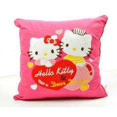 Buy this Hello Kitty throw pillow with removable zipper case. Feature Hello Kitty & Dear Daniel detailed embroidery.
