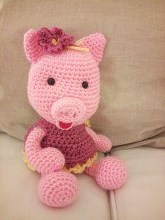 Uma porquinha de crochet