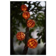SOLVINDEN декорация за светещ гирлянд, 12 бр/к-т, глобус, 203.405.79