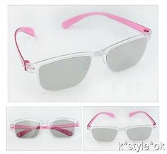 00ce51f257 Light Vivid 3D passive Glasses LG realD polarized TV monitor girl Pink adult