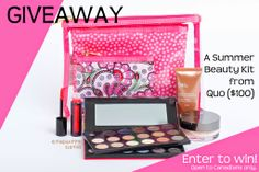 The Happy Sloths: Giveaway: Enter to Win a Summer Beauty Kit from Quo (value of $100)!