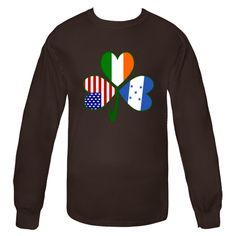 Fun design to help you celebrate St. Patrick's Day, 4th of July or other USA patriotic holidays and special #Honduran holidays. Image features a #shamrock with a flag in each leaf: United States of America,Ireland or Honduras. Wonderful for showing pride in all your heritages, cultures and ancestries. $25.99 http://ink.flagnation.com from your @Auntie Shoe