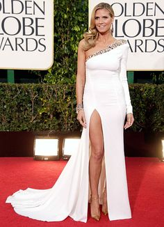 Heidi Klum sizzled in an Alexandre Vauthier Couture gown and Christian Louboutin heels at the 2013 Golden Globes.