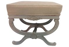 French-Style  Bench w/ Linen on OneKingsLane.com