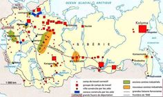 Gulag – Los Campos de Concentración Rusos Mapa [The Russian concentration camps Map]