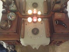 Finally, an altar shot, with offerings to Odin, Skadi, Freyja, Freyr, Thor, and Bragi.   Right now I have a set of homemade runes; several c...