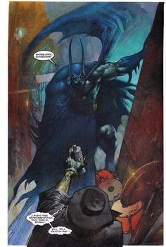 Batman & Scarecrow  From Judgement On Gotham (1991)  Art by Simon Bisley