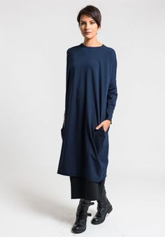 Labo.Art Abito Peggy Jersey Dress in Atlantic | Santa Fe Dry Goods