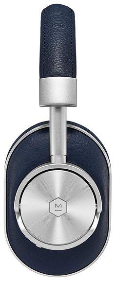 Master & Dynamic Premium High Definition Bluetooth Wireless Over-Ear Headphone - Navy/Silver Wireless Headphones, In Ear Headphones, Bluetooth, Electronics, Amazon, Amazons, Over Ear Headphones, Riding Habit