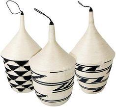Traditional sisal baskets from Rwanda, Africa.