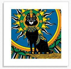 """""""Egyptian Cat"""" created by Kelly Deschler using Colorfy."""