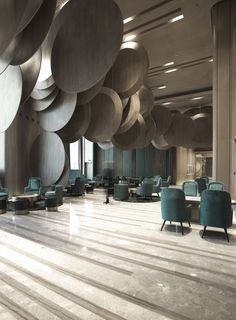 When it comes to getting a hotel ready to greet its guests, a lobby design is a tell-all. The entrance to a brand new world of luxury, these luxurious hotel lob Interior Design Magazine, Hotel Lobby Design, Modern Hotel Lobby, Design Entrée, Design Commercial, Contemporary Interior Design, Contemporary Style, Contemporary Landscape, Farmhouse Contemporary