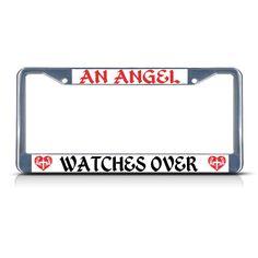 I BELIEVE IN ANGELS Metal License Plate Frame Tag Holder