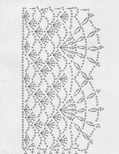 para un pañuelo ..... espectacular pretty crochet border! Más