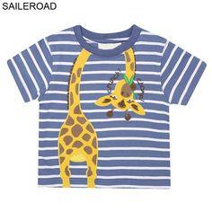 97bdb622b9 SAILEROAD 1-6Years Children Kids T Shirt New Summer Baby Boy Girls Shorts  Sleeve T