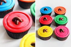 Cupcakes Giant Buttons