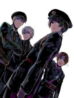 dark!hetalia (Italy, Japan, Germany, England, and Prussia)