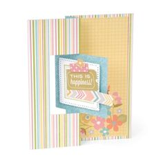 Sizzix Framelits Die Set 12PK - Card, Square Flip-its #2  $29.99  Coming in October