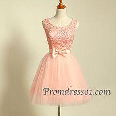 Cute handmade mini prom & bridesmaid dress #coniefox