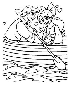 Baby Ariel and Melody the little mermaid 2 melody coloring pages