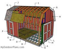 How To Build A Gambrel Roof Shed Gambrel Roof Gambrel