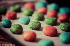 печенья радужные