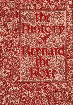 William Morris, for the Kelmscott Press  Proof, title-page, The History of Reynard the Fox, 1893