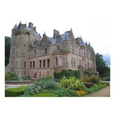 Belfast Castle, from formal garden Picture of Belfast, Northern... ❤ liked on Polyvore featuring backgrounds, castles, pictures and house