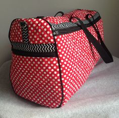 duffle bag tutorial - made with double-sided quilted fabric