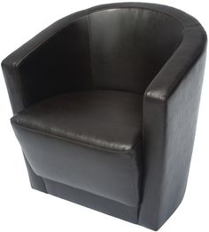 dark brown swivel leather chair