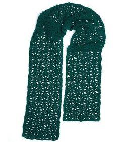 Pistachio Lace Crochet Scarf Pattern | FaveCrafts.com