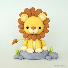 Tutorial - fondant lion cake topper  #fondanttutorial #fondanttutorialfigurine fondanttutoriallion fondanttutorialkidscake fondanttutorialtopper fondanttutorialnimals