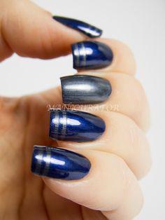 Nails Grey Blue China Glaze Ideas For 2019 Navy Nails, Red Nails, White Nails, Hair And Nails, Grey Nail Designs, Cool Nail Designs, Fabulous Nails, Gorgeous Nails, Cowboy Nails
